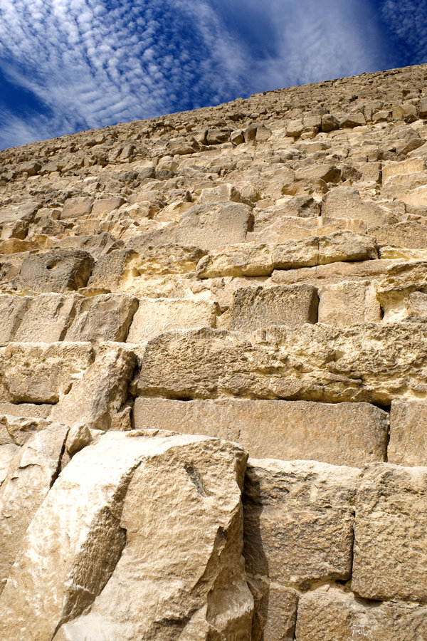 Grande pirâmide egípcia foto de stock