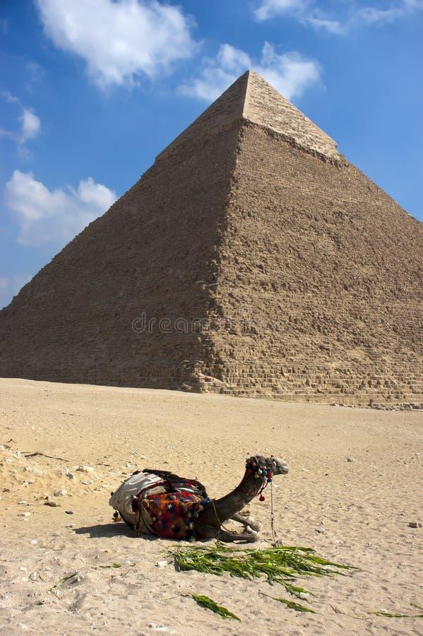 Grande piramide Cheops Giza Cairo Egitto antico immagine stock