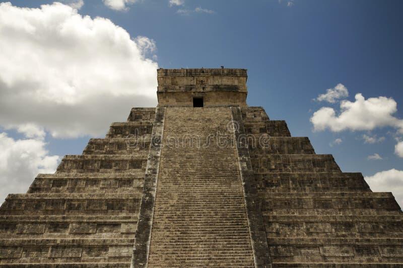 Grande piramide Chichen Itza fotografia stock libera da diritti