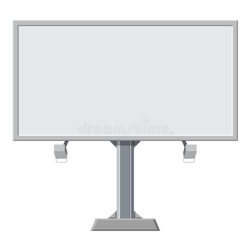 Grande placa, tela vazia, branca do quadro de avisos, ilustração do vetor