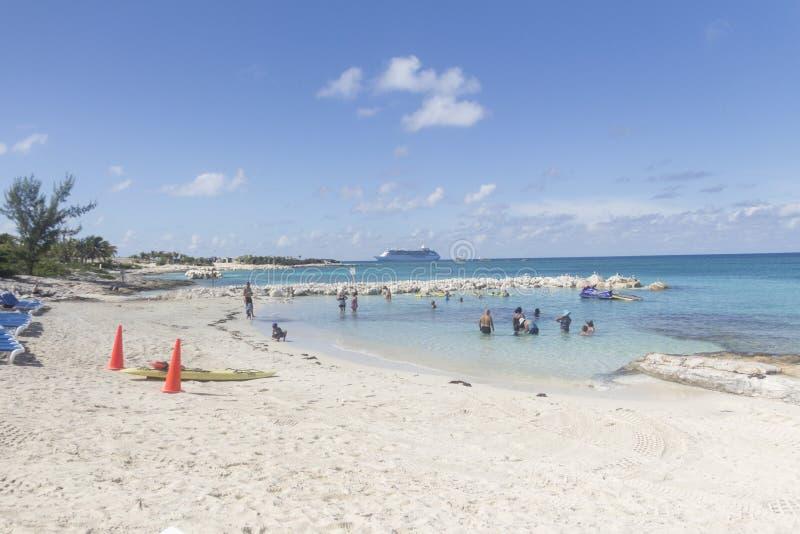 Grande plage de banc de sable d'étrier image libre de droits
