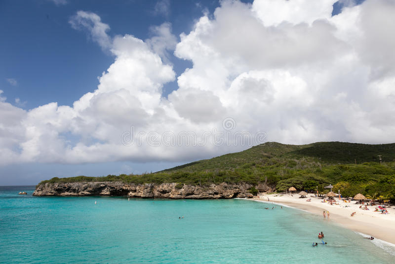 Grande playa de Knip imagen de archivo