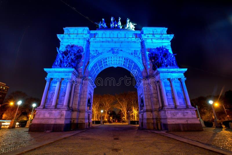 Grande plaza dell'esercito a Brooklyn, New York City fotografia stock