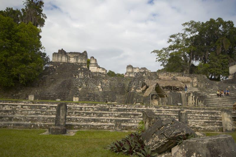 Grande plaza guatemala tikal imagens de stock royalty free