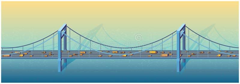 Grande ponte ilustração stock
