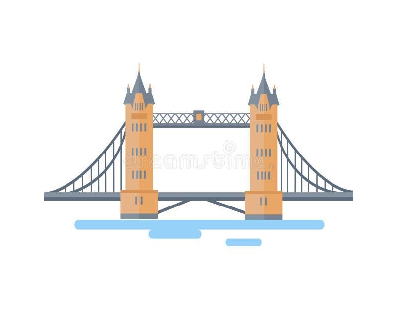 Grande ponte da torre de Londres como a atração famosa ilustração do vetor