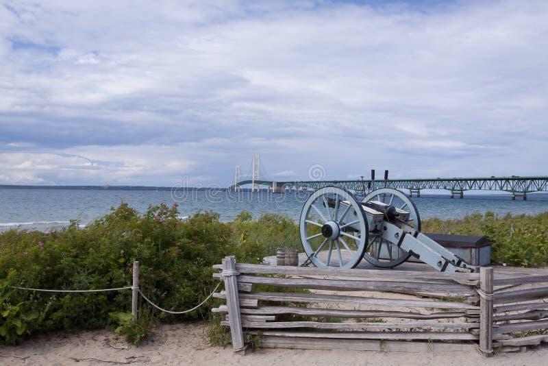 Grande ponticello di Mackinac immagine stock libera da diritti