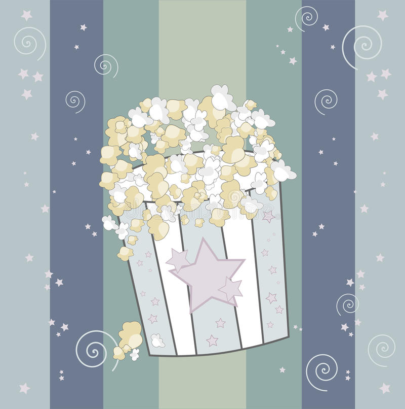 Grande popcorn illustrazione vettoriale