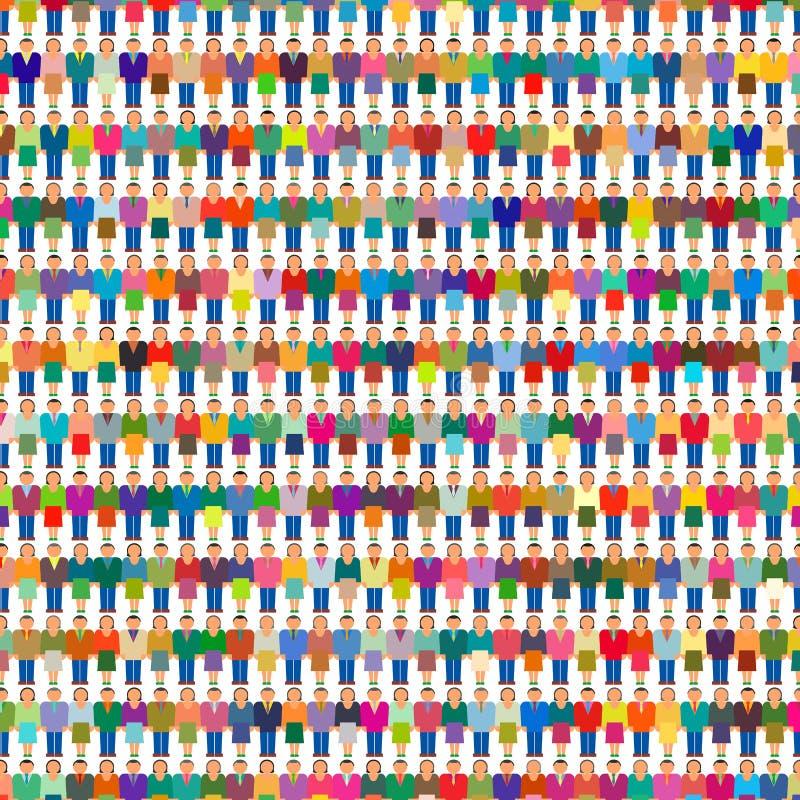 Grande population de personnes de groupe de foule illustration libre de droits
