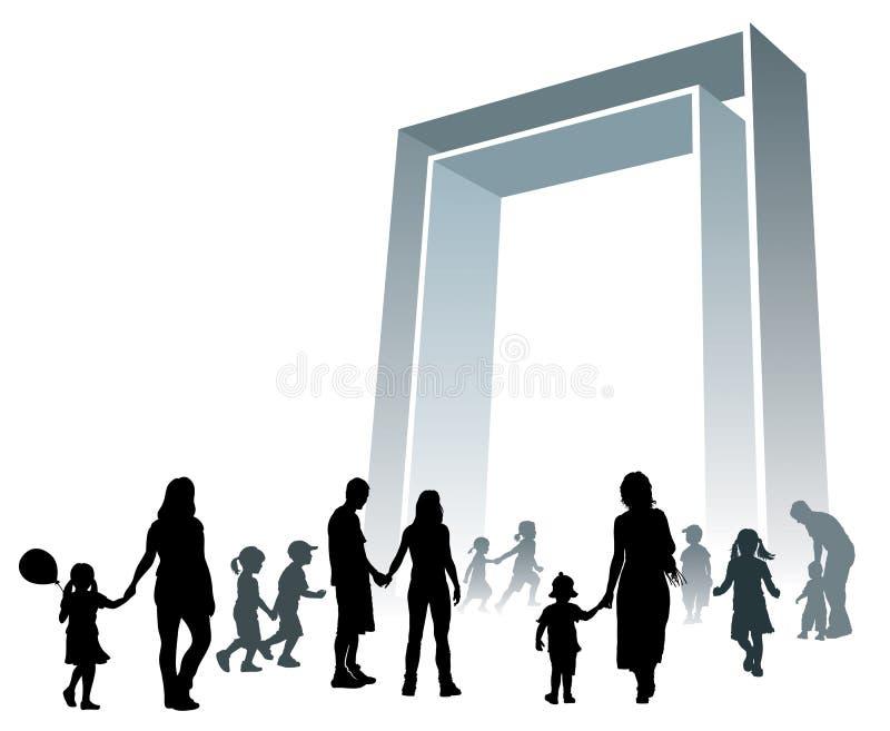 Grande porte illustration libre de droits