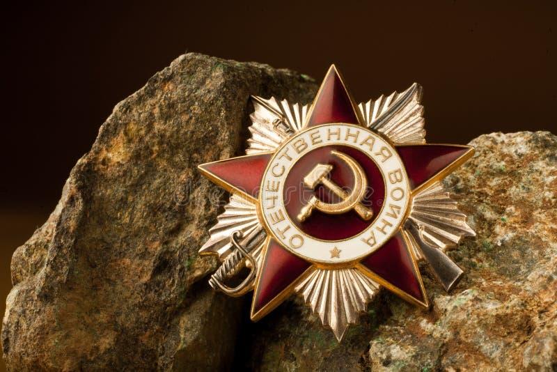 Grande premio patriottico di guerra sulle pietre immagini stock