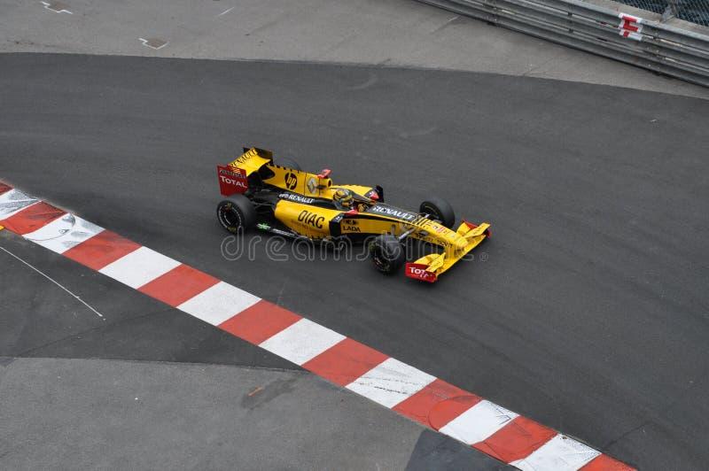Grande Prix Monaco 2010, Renault di Robert Kubica fotografie stock libere da diritti