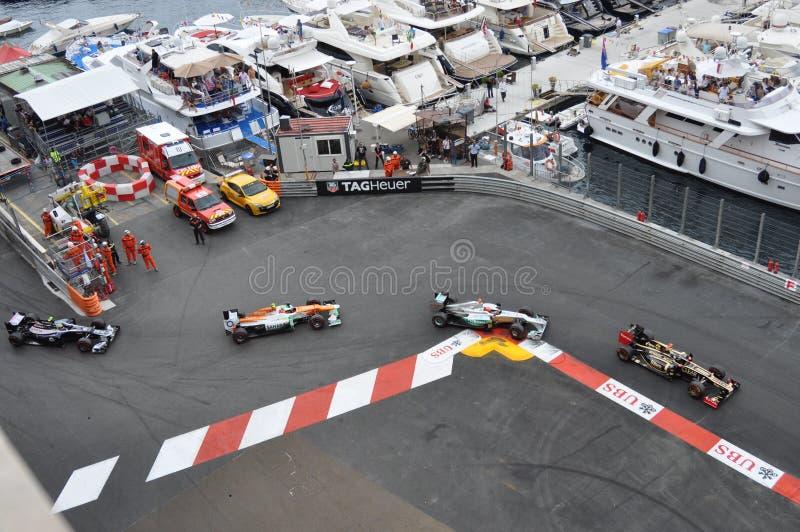 Grande Prix Monaco 2012 - automobili di duello fotografia stock