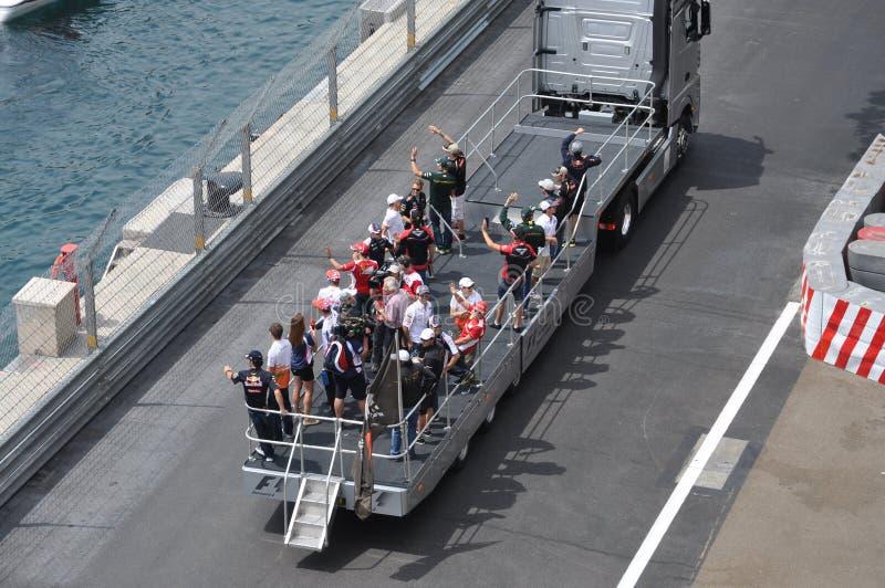 Grande Prix Monaco 2012 - parata della pre-corsa del driver fotografia stock