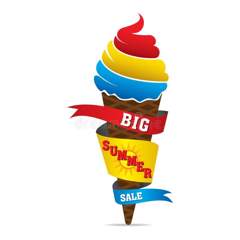 Grande progettazione dell'insegna di vendita di estate illustrazione vettoriale