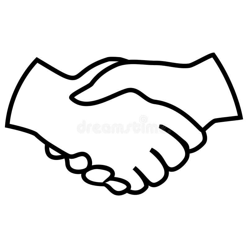 Grande progettazione delle mani della stretta di mano isolate su un fondo bianco royalty illustrazione gratis