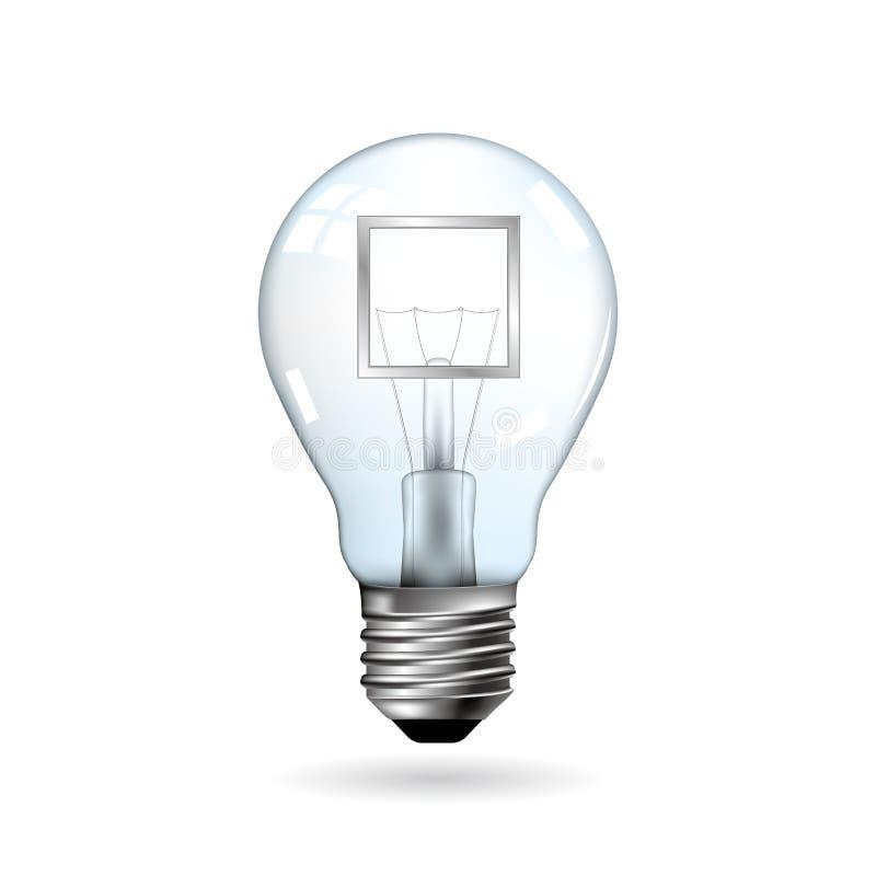 Grande progettazione di idea, concetti disegnati vettore della lampadina illustrazione di stock