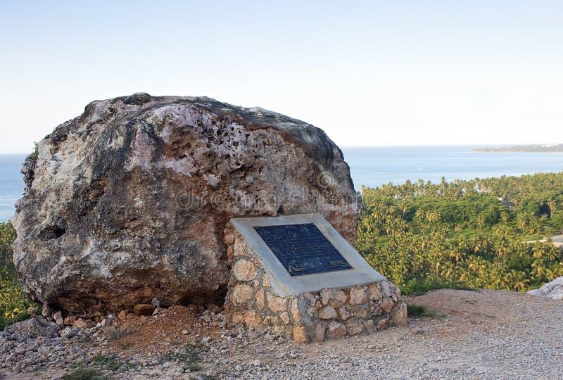 Roccia caraibica Lookover, Repubblica dominicana immagini stock