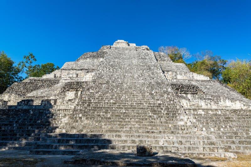Grande pyramide dans Becan, Mexique photo libre de droits