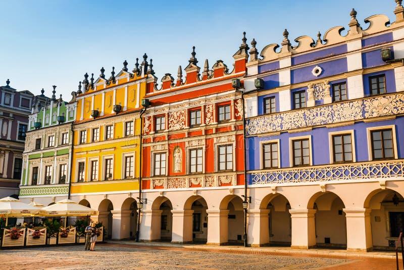 Grande quadrato del mercato Grande esempio di una città di rinascita in Europa centrale, nel 1580 b fondata fotografia stock
