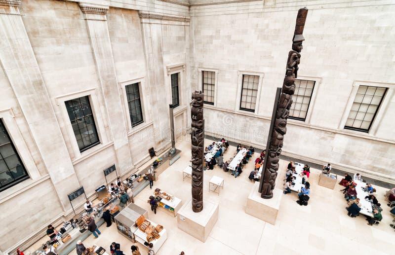 Grande région de café de cour de British Museum photos stock