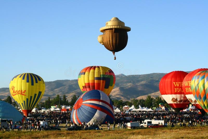 Grande raça do balão de Reno fotografia de stock
