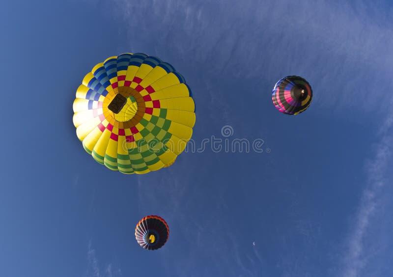 A grande raça do balão de Reno, de abaixo imagem de stock