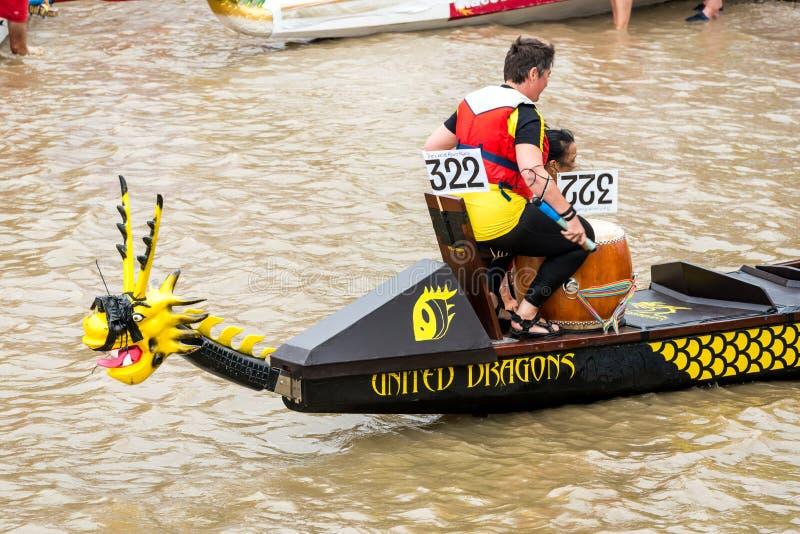 A grande raça do rio fotos de stock royalty free