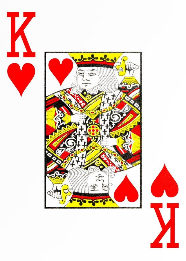 Grande re della carta da gioco di indice dei cuori illustrazione di stock