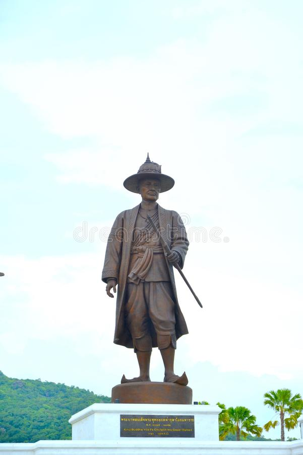 Grande re reale tailandese Monument fotografia stock libera da diritti