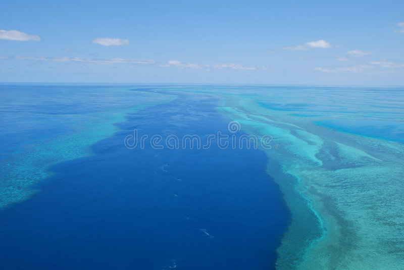 Grande recife de barreira, Austrália imagens de stock