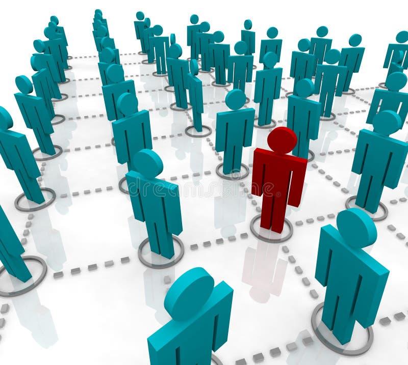 Grande rede dos povos ilustração stock