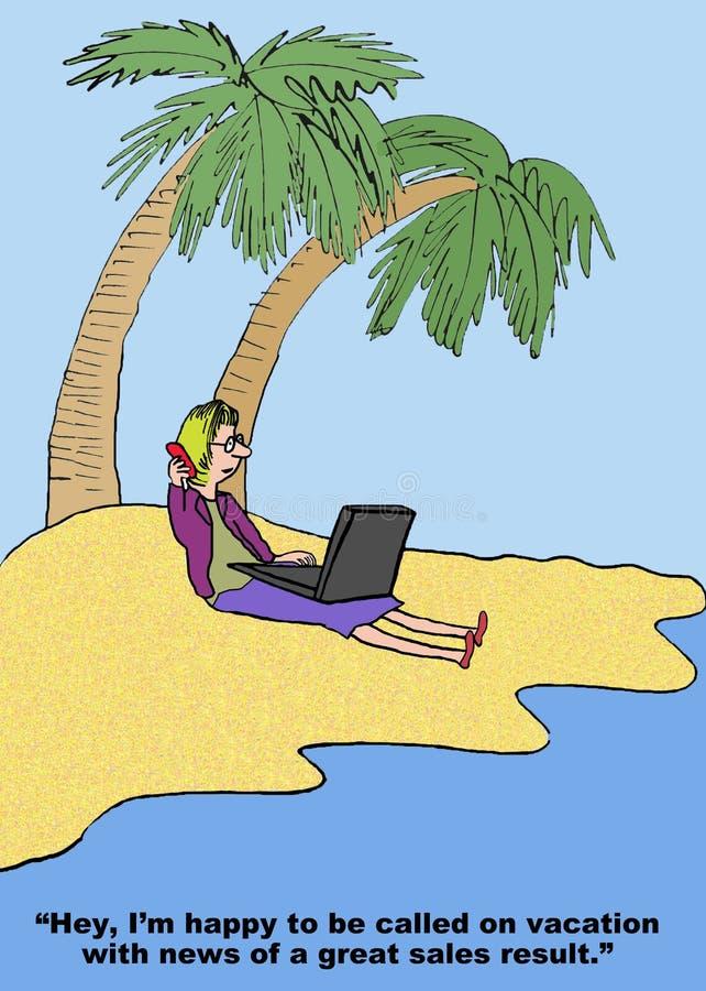 Grande resultado de vendas em férias ilustração royalty free