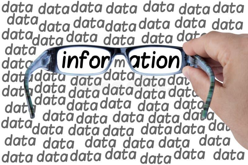Grande ricerca di vetro di informazioni di dati isolato immagine stock