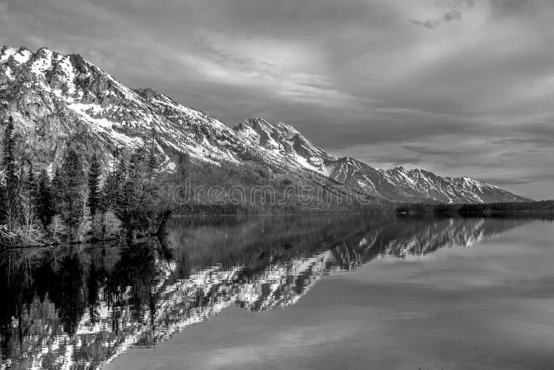 Grande riflessione di Teton fotografia stock
