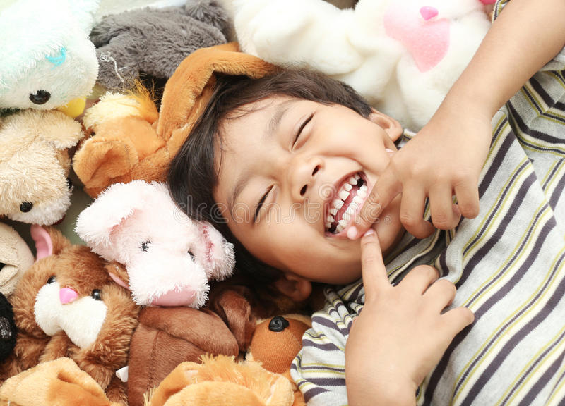Grande risata felice immagine stock