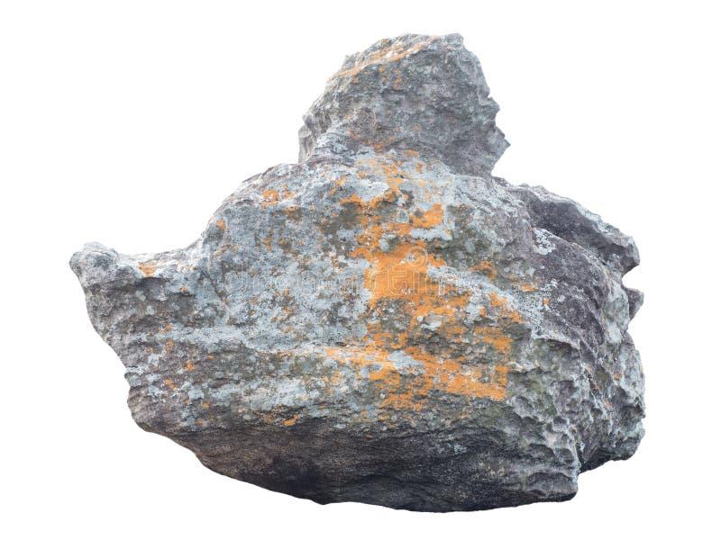 Grande roche de grès en nature d'isolement sur le blanc photographie stock