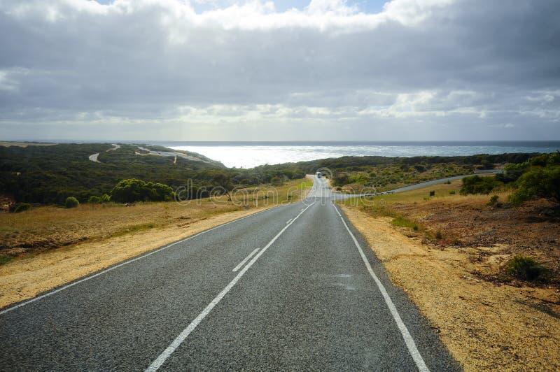 Grande rota da estrada do oceano em Austrália foto de stock