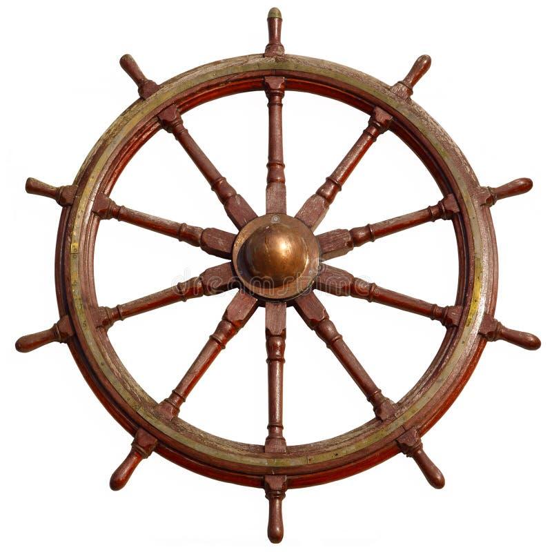 Grande rotella di legno della nave. fotografie stock
