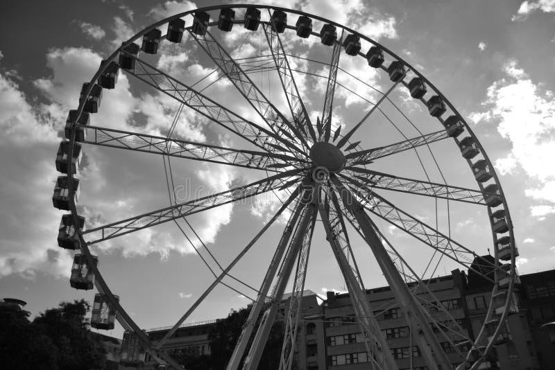 Grande roue à Budapest images libres de droits