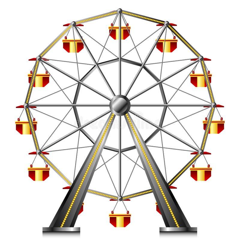 Grande roue illustration de vecteur