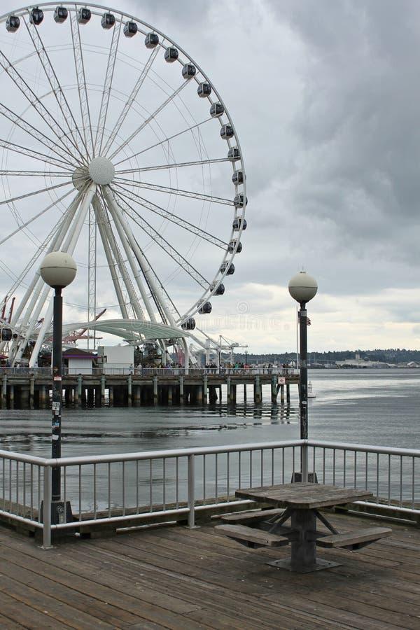 Grande roue de Seattle photos libres de droits