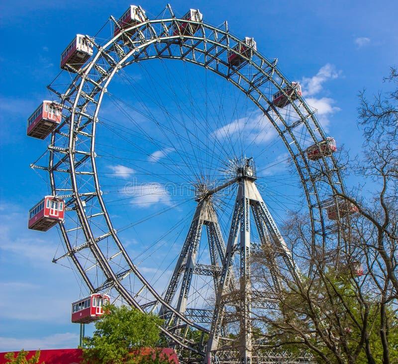 Grande roue en parc de Prater à Vienne photographie stock