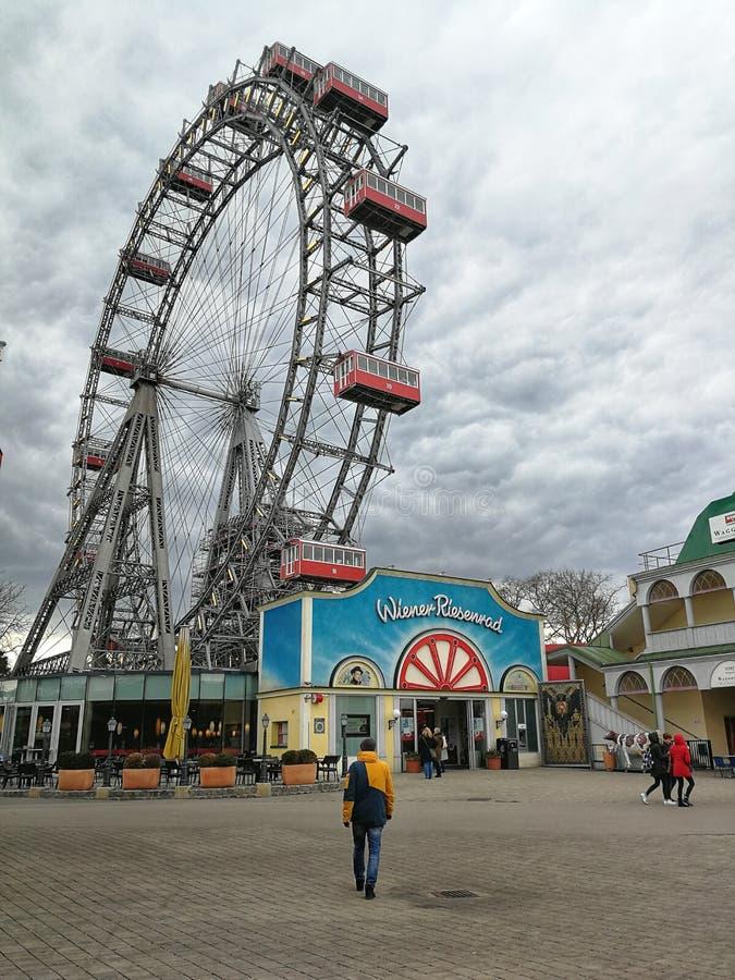 Grande roue en parc de Prater, Vienne, Autriche photos libres de droits