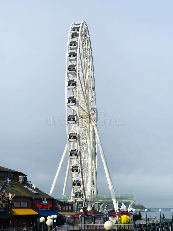 Grande roue - Seattle image stock