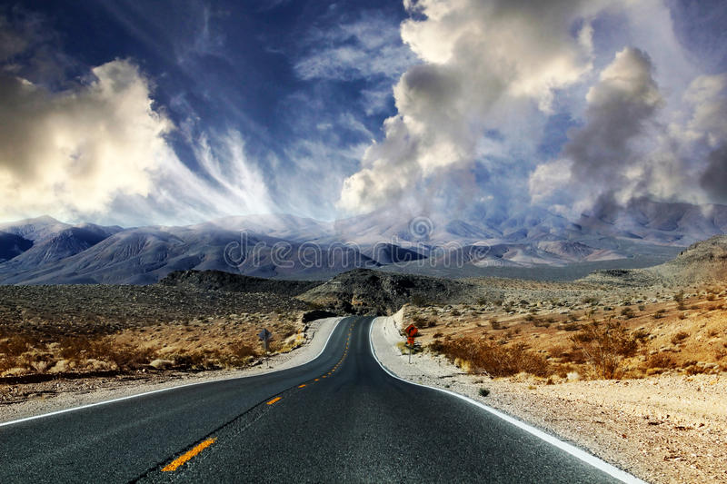 Death Valley dans Nevadia images libres de droits