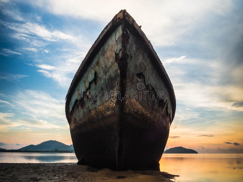 Grande Rusty Boat immagini stock