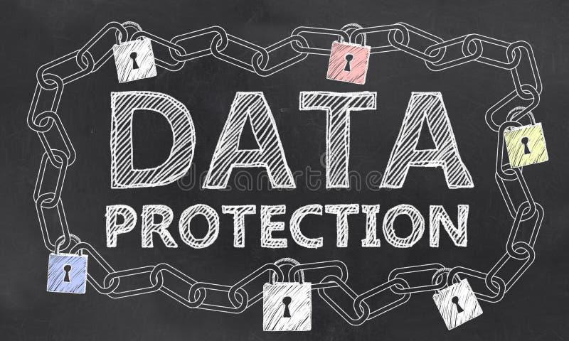 Grande sécurité de service informatique de données illustration stock