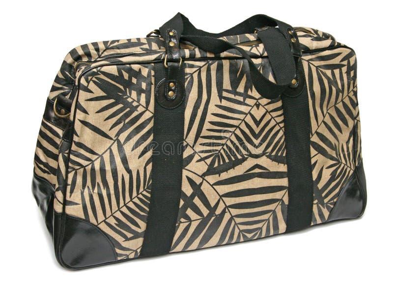 Grande sacchetto delle donne della tela di canapa immagini stock