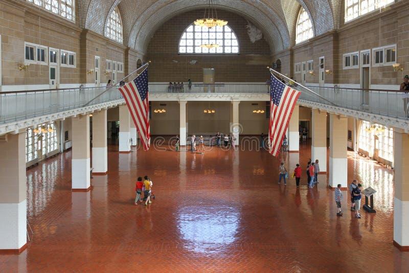 Grande salão da construção principal em Ellis Island fotografia de stock royalty free